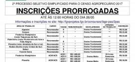 Processo seletivo do IBGE tem inscrições prorrogadas