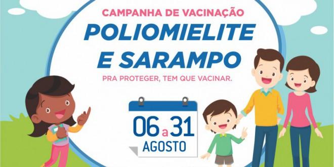 Dia D da Vacinação contra o Sarampo e a Poliomielite será realizado neste sábado
