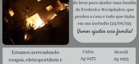 Campanha arrecada doações para família vítima de incêndio
