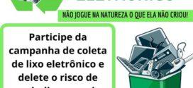 Taquaruçu do Sul terá coleta de lixo eletrônico