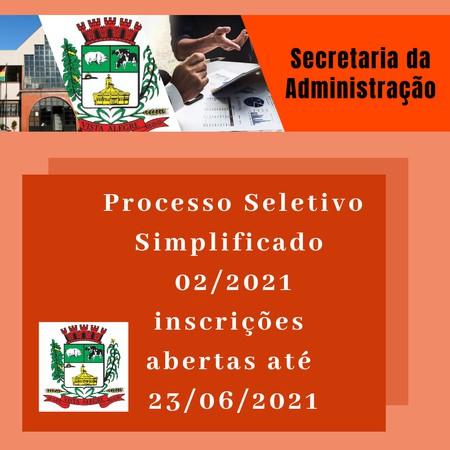 Prefeitura de Vista Alegre publica edital de processo seletivo