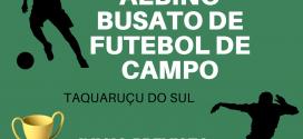 Abertas inscrições para Taça Monsenhor Albino Buzato de futebol de campo